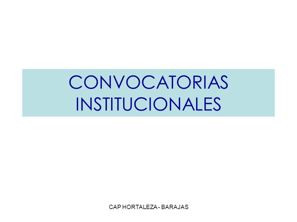 CONVOCATORIAS INSTITUCIONALES