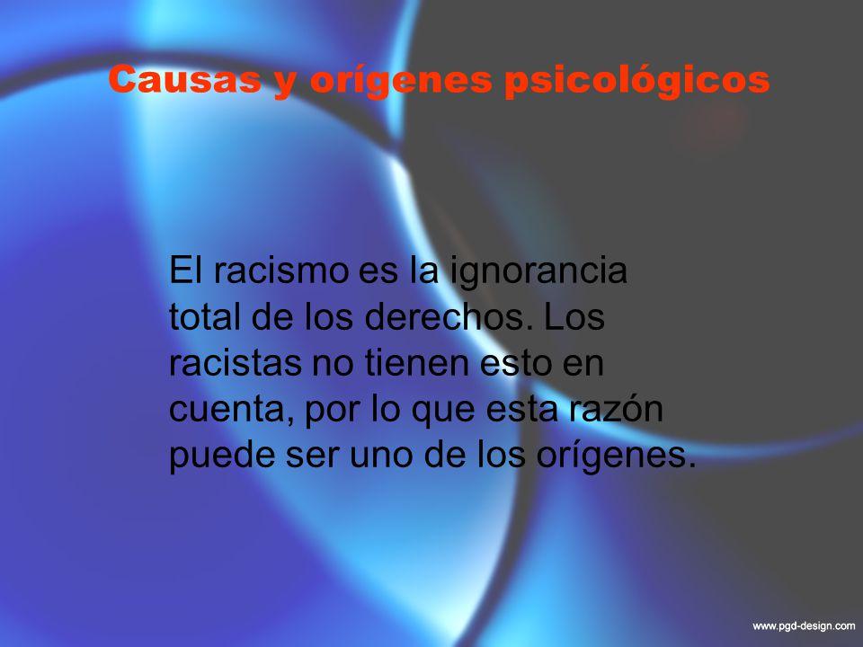 Causas y orígenes psicológicos