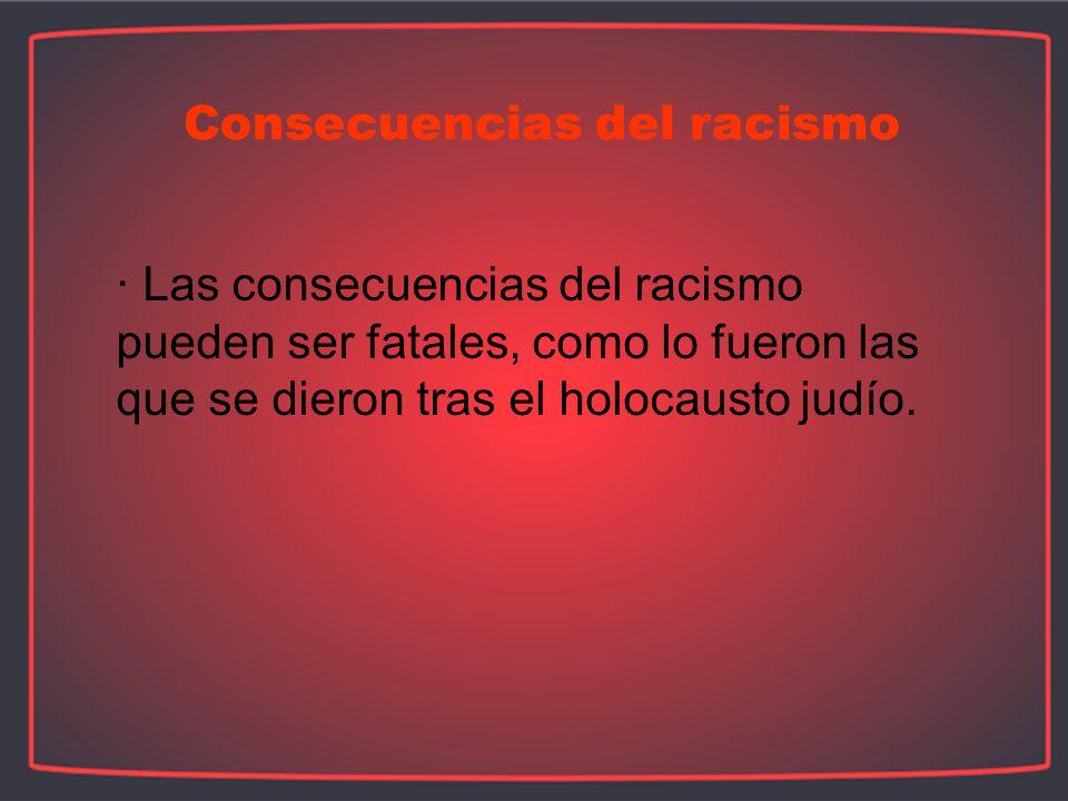 Consecuencias del racismo