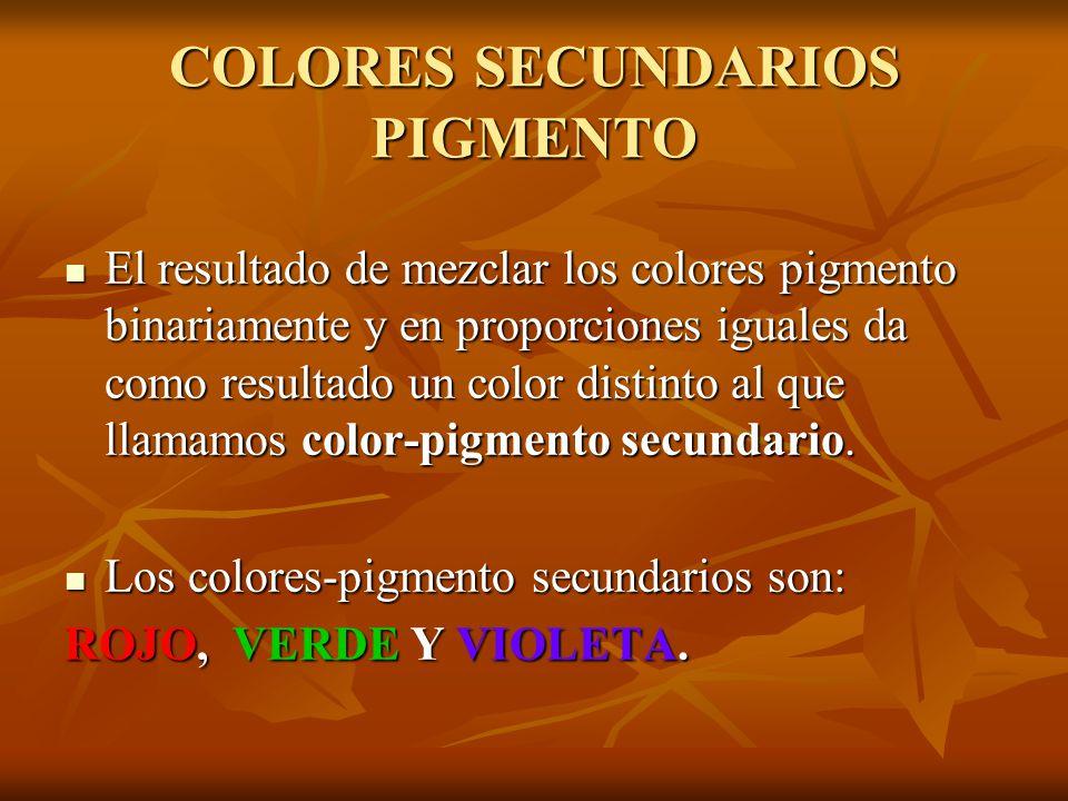 COLORES SECUNDARIOS PIGMENTO