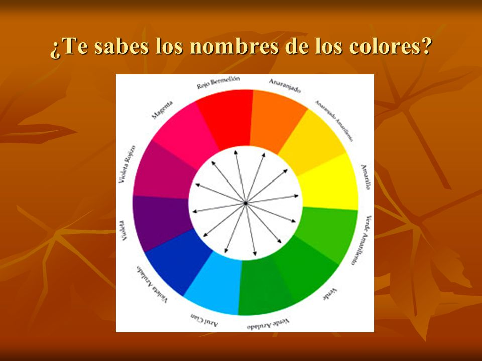 ¿Te sabes los nombres de los colores