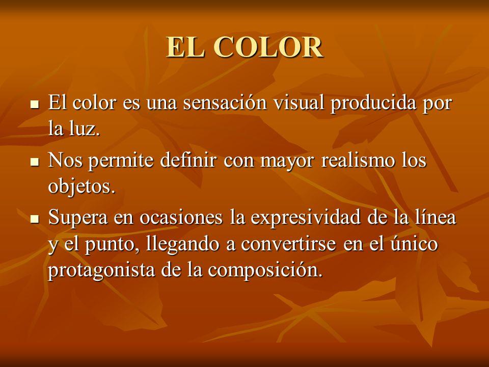 EL COLOR El color es una sensación visual producida por la luz.