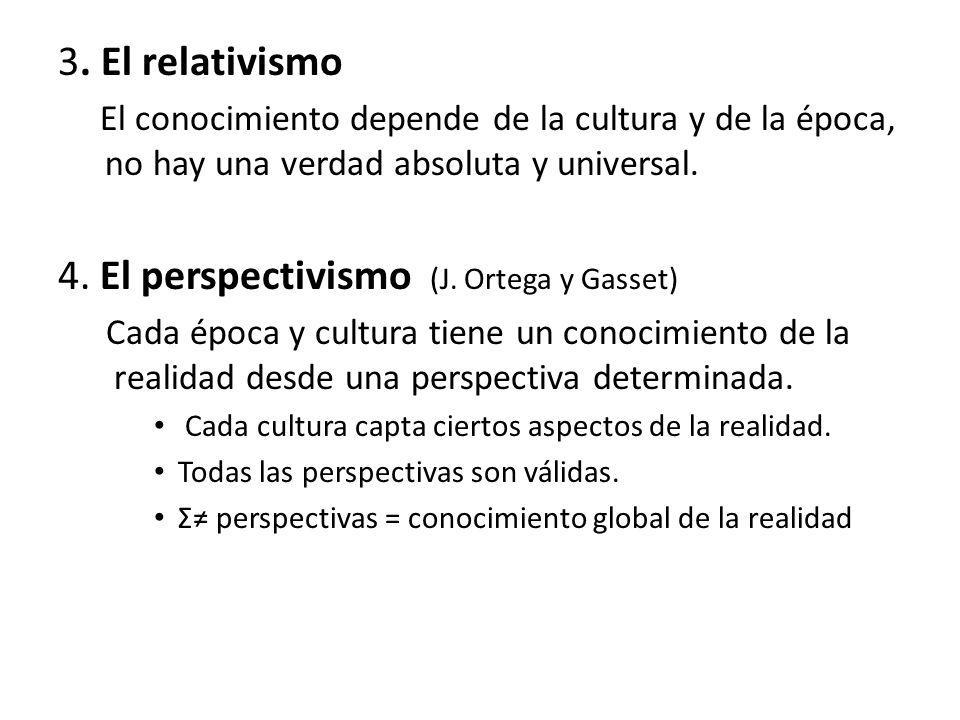 4. El perspectivismo (J. Ortega y Gasset)