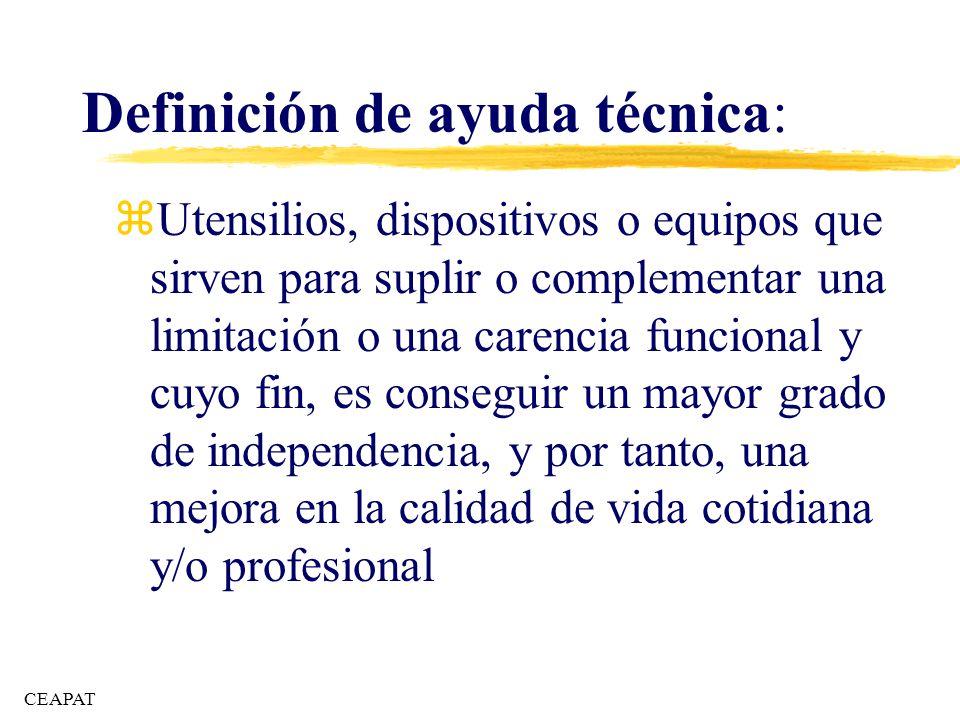 Definición de ayuda técnica: