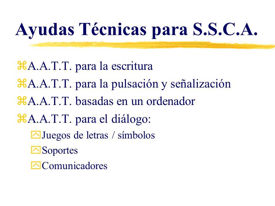 Ayudas Técnicas para S.S.C.A.