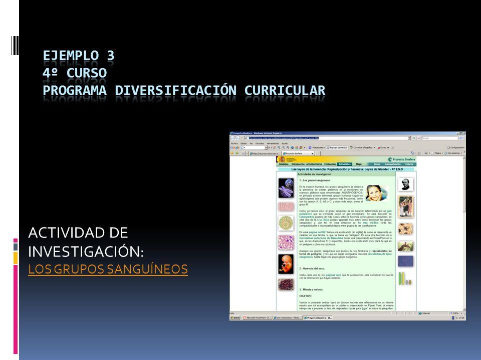 ejemplo 3 4º CURSO PROGRAMA DIVERSIFICACIÓN CURRICULAR