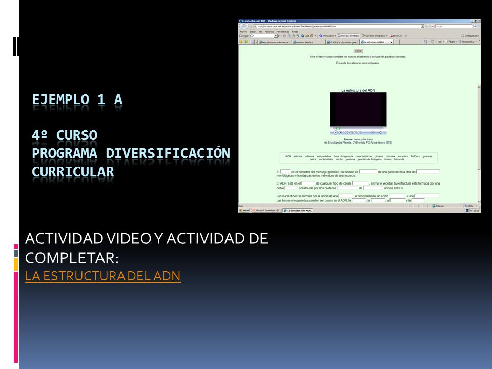 Ejemplo 1 A 4º CURSO PROGRAMA DIVERSIFICACIÓN CURRICULAR