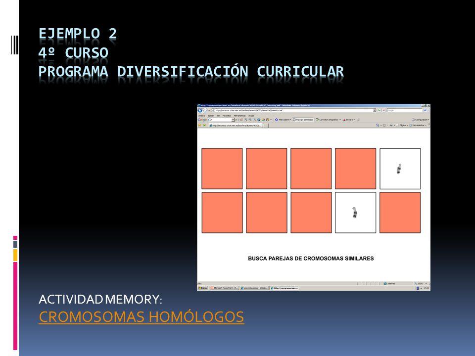 Ejemplo 2 4º CURSO PROGRAMA DIVERSIFICACIÓN CURRICULAR