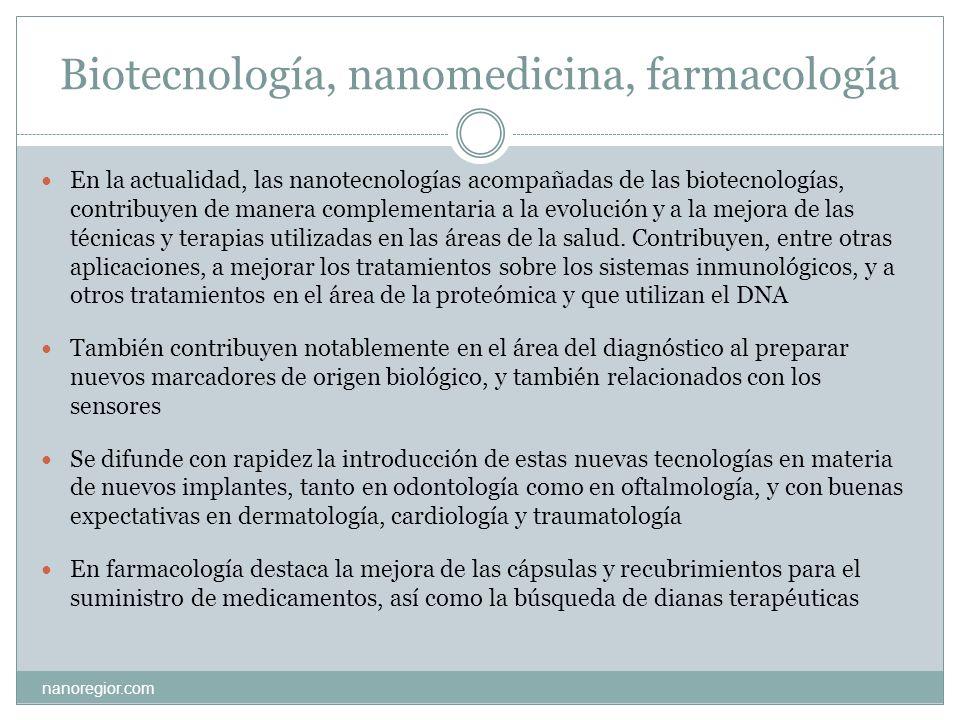 Biotecnología, nanomedicina, farmacología
