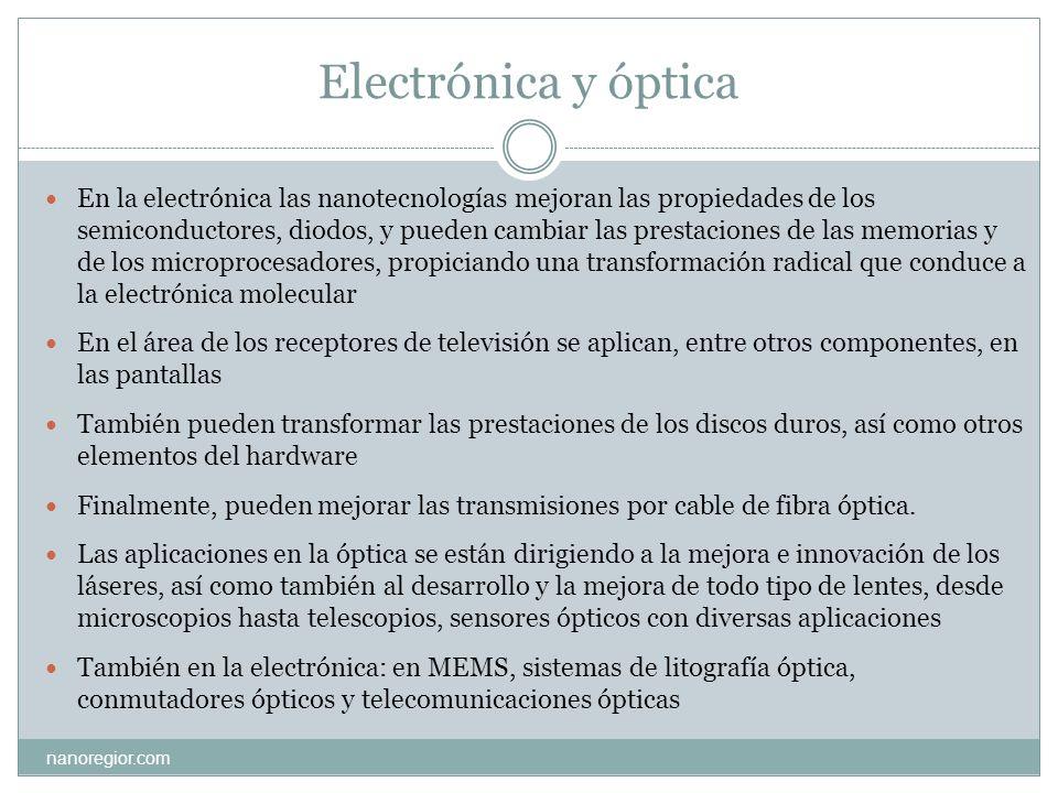 Electrónica y óptica