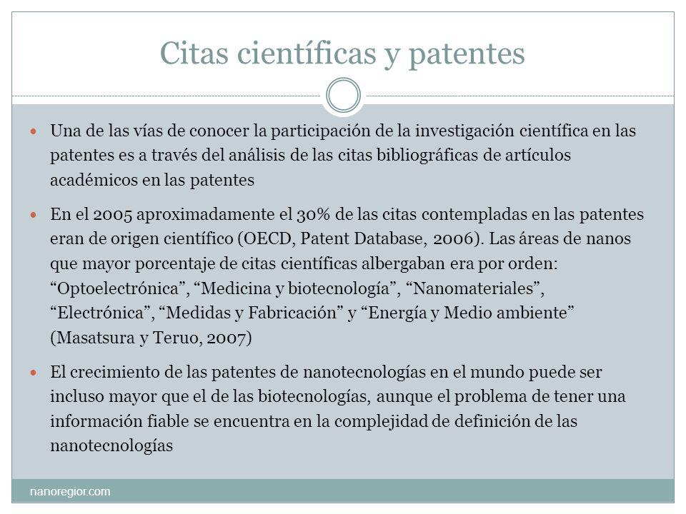 Citas científicas y patentes
