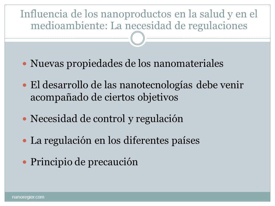 Influencia de los nanoproductos en la salud y en el medioambiente: La necesidad de regulaciones