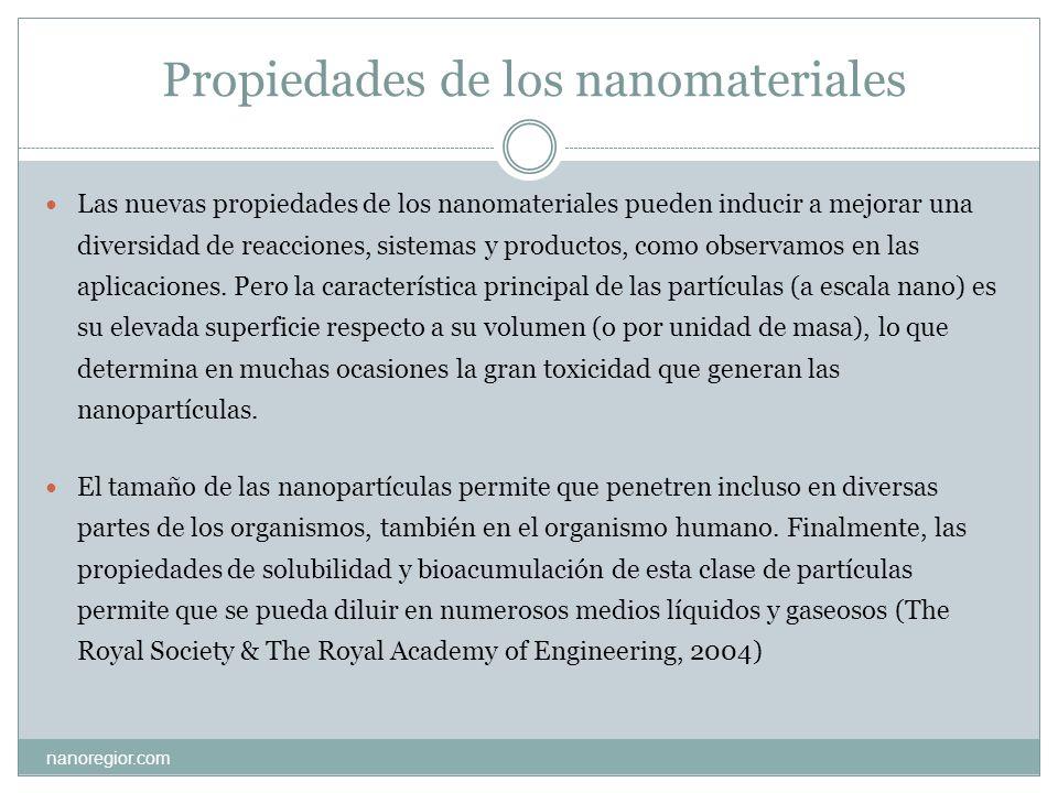 Propiedades de los nanomateriales