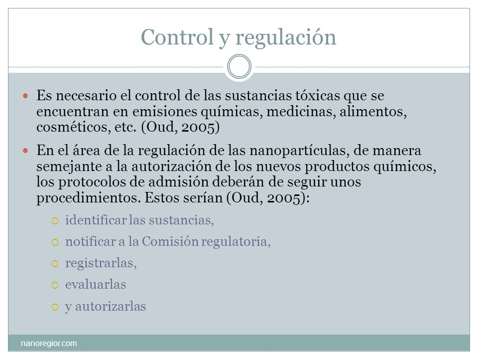 Control y regulación