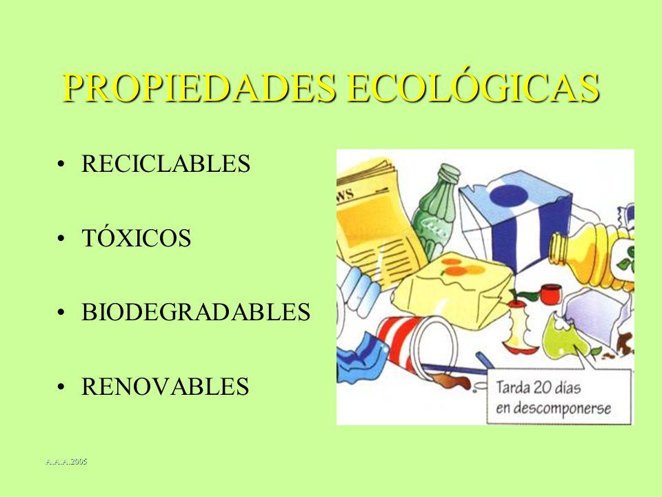 PROPIEDADES ECOLÓGICAS
