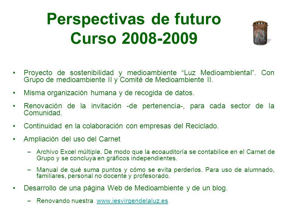 Perspectivas de futuro Curso 2008-2009