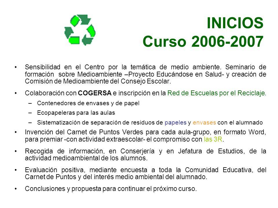 INICIOS Curso 2006-2007