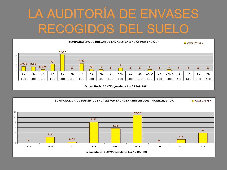 LA AUDITORÍA DE ENVASES RECOGIDOS DEL SUELO