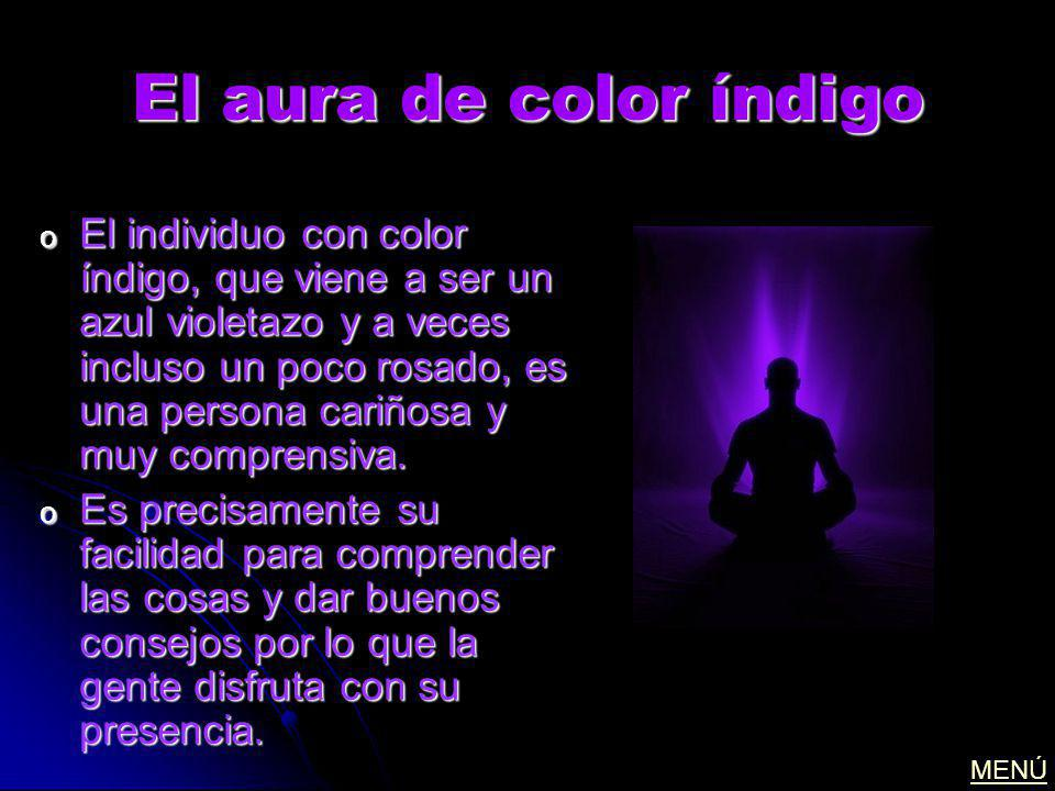 El aura de color índigo
