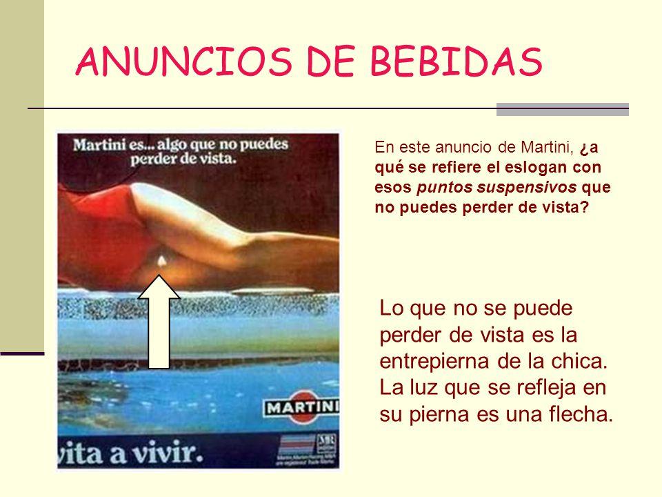 ANUNCIOS DE BEBIDAS En este anuncio de Martini, ¿a qué se refiere el eslogan con esos puntos suspensivos que no puedes perder de vista
