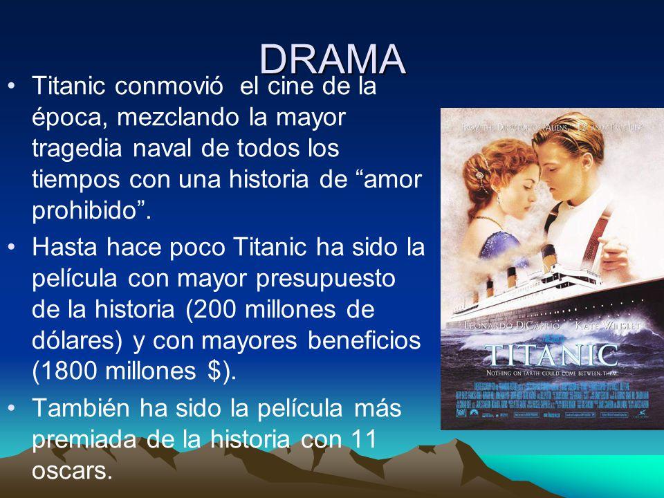 DRAMA Titanic conmovió el cine de la época, mezclando la mayor tragedia naval de todos los tiempos con una historia de amor prohibido .