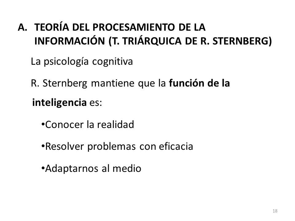 TEORÍA DEL PROCESAMIENTO DE LA INFORMACIÓN (T. TRIÁRQUICA DE R