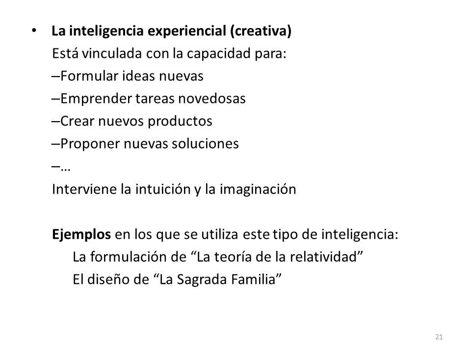 La inteligencia experiencial (creativa)