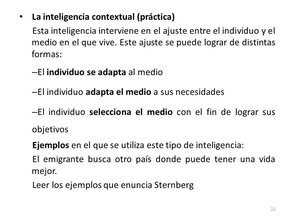 La inteligencia contextual (práctica)