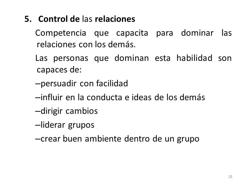 Control de las relaciones