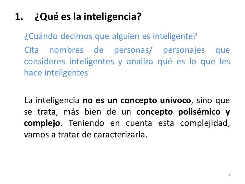 ¿Qué es la inteligencia