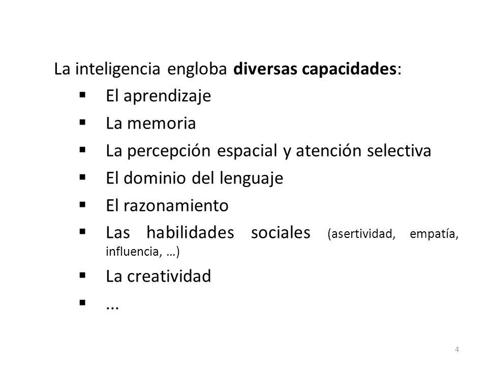 La inteligencia engloba diversas capacidades: