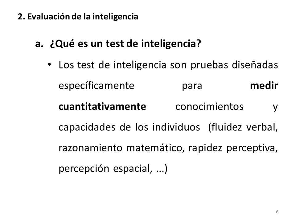2. Evaluación de la inteligencia