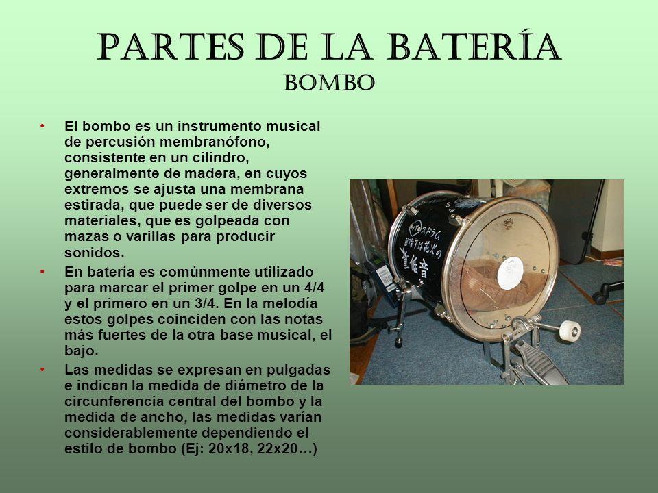 PARTES DE LA BATERÍA BOMBO