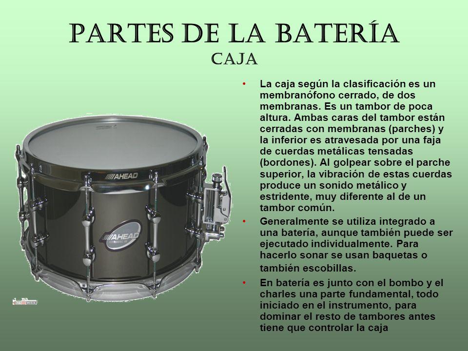 PARTES DE LA BATERÍA CAJA