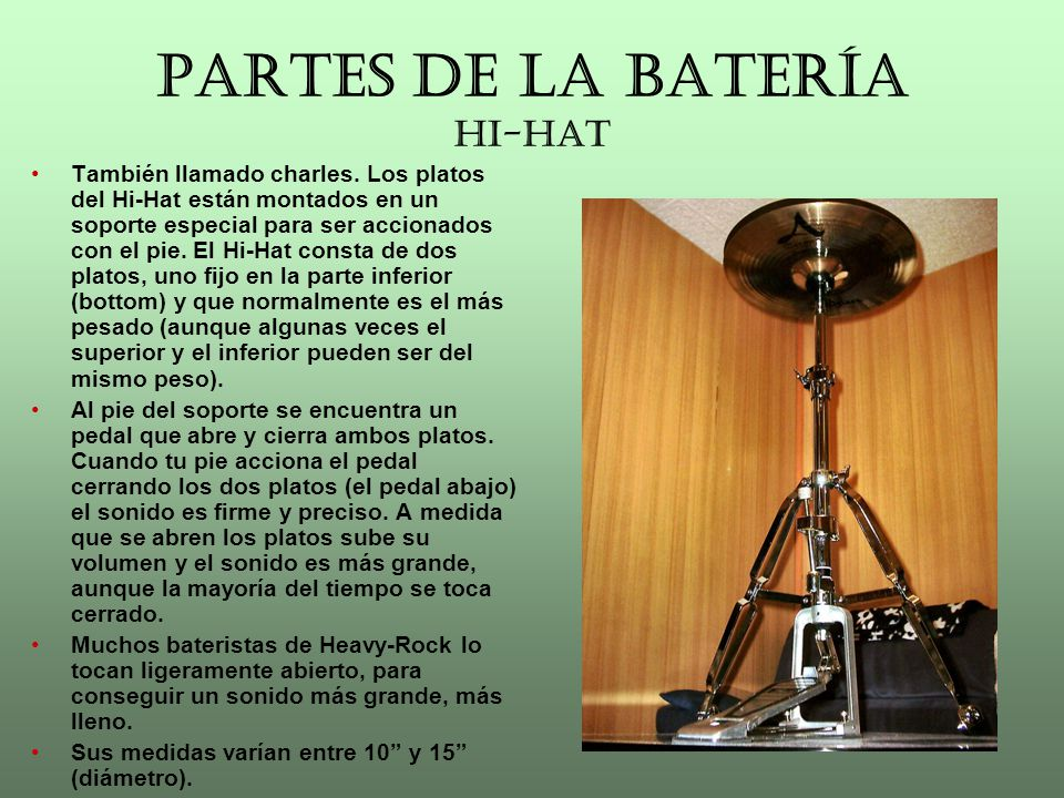 PARTES DE LA BATERÍA HI-HAT