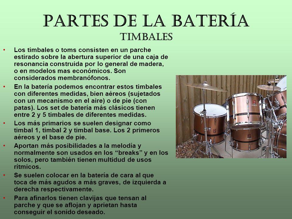 PARTES DE LA BATERÍA TIMBALES