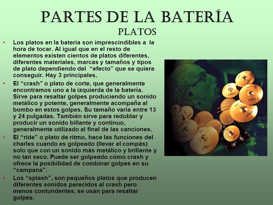 PARTES DE LA BATERÍA PLATOS