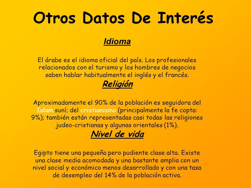 Otros Datos De Interés Idioma Religión Nivel de vida