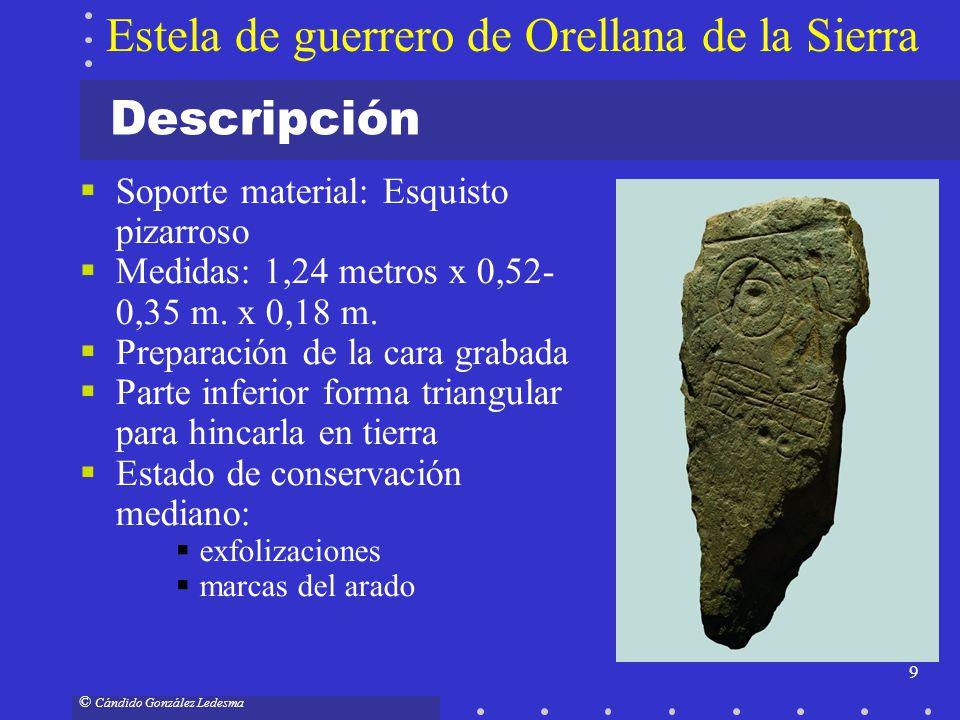 Estela de guerrero de Orellana de la Sierra