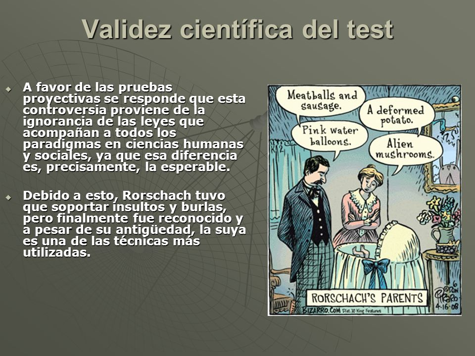 Validez científica del test