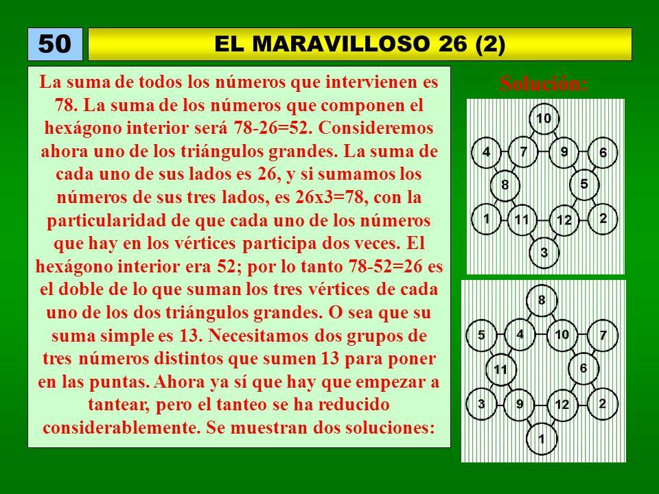 50 EL MARAVILLOSO 26 (2) Solución: