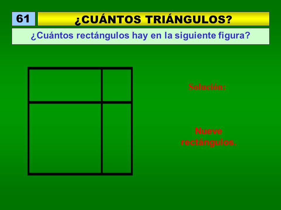 ¿Cuántos rectángulos hay en la siguiente figura