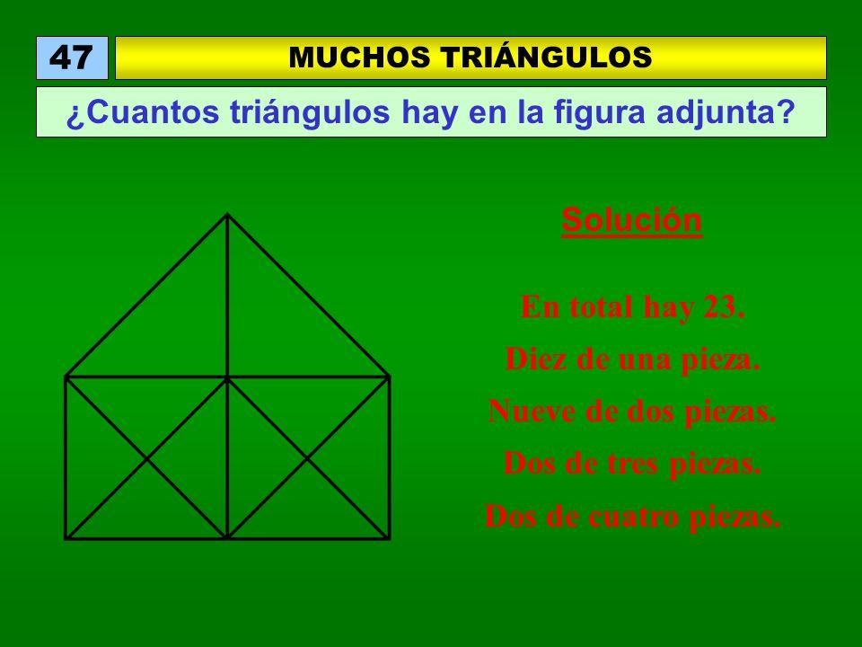 ¿Cuantos triángulos hay en la figura adjunta