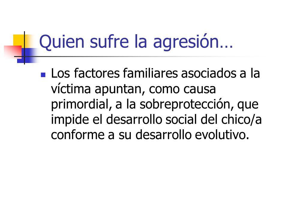 Quien sufre la agresión…
