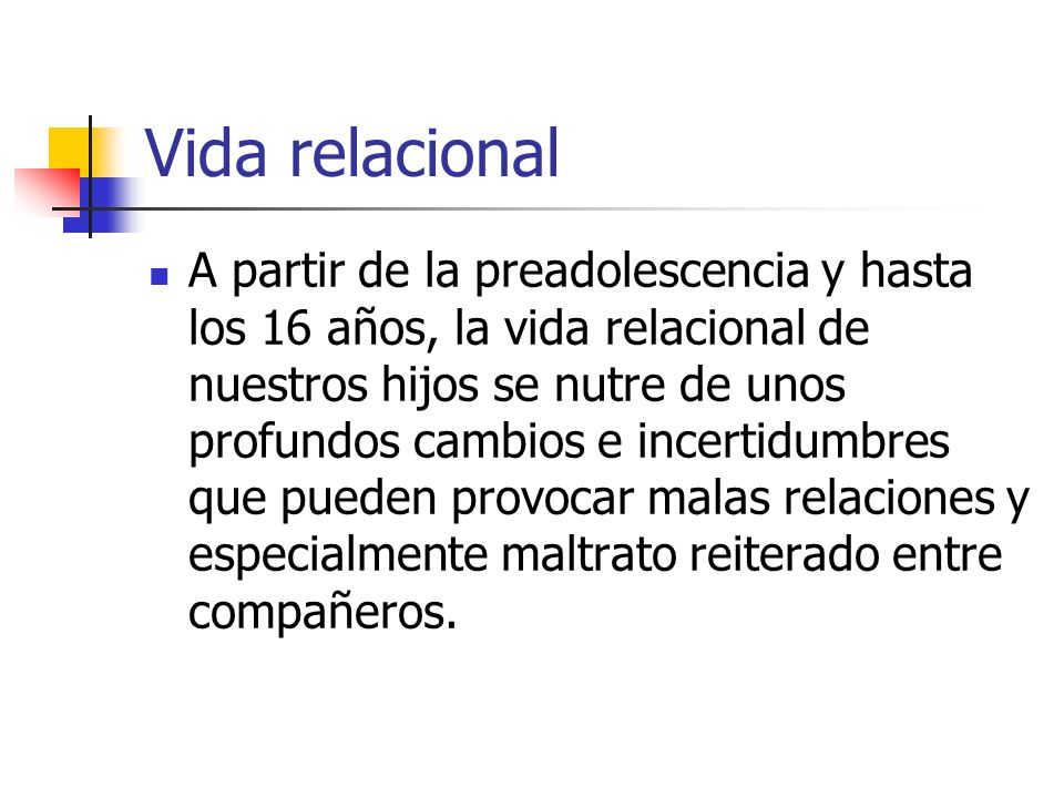 Vida relacional