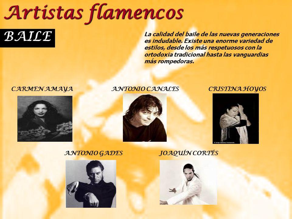 Artistas flamencos BAILE