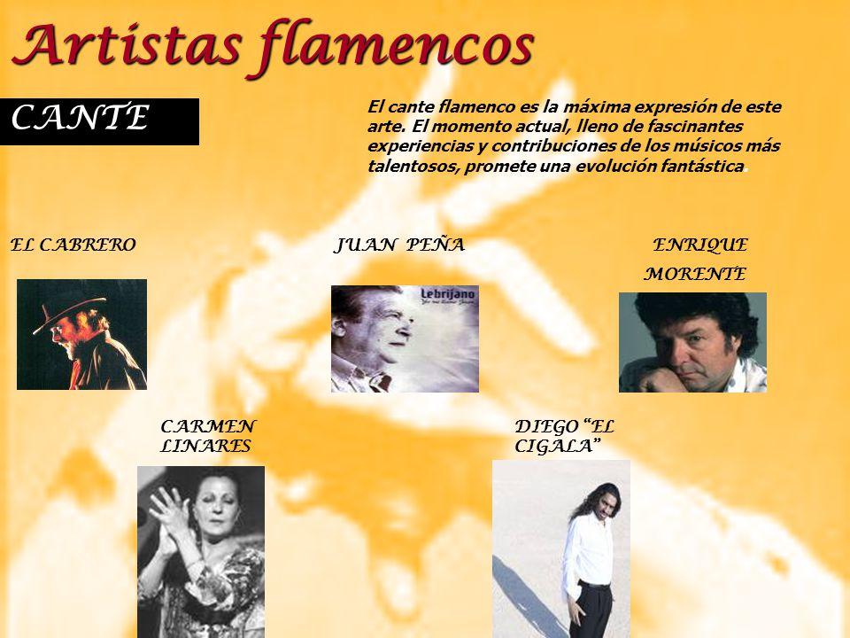 Artistas flamencos CANTE