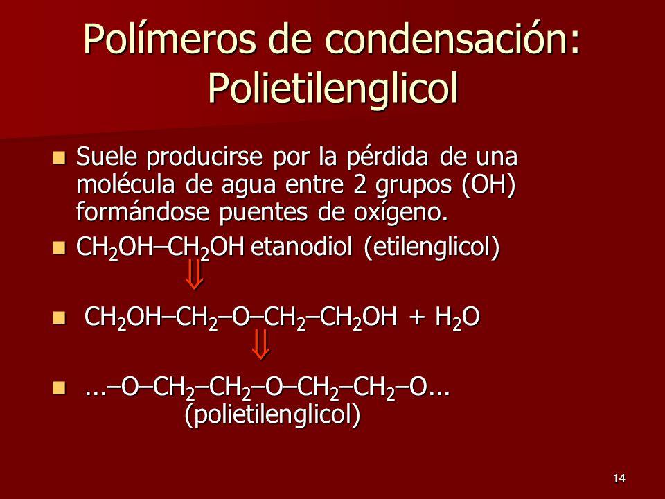 Polímeros de condensación: Polietilenglicol