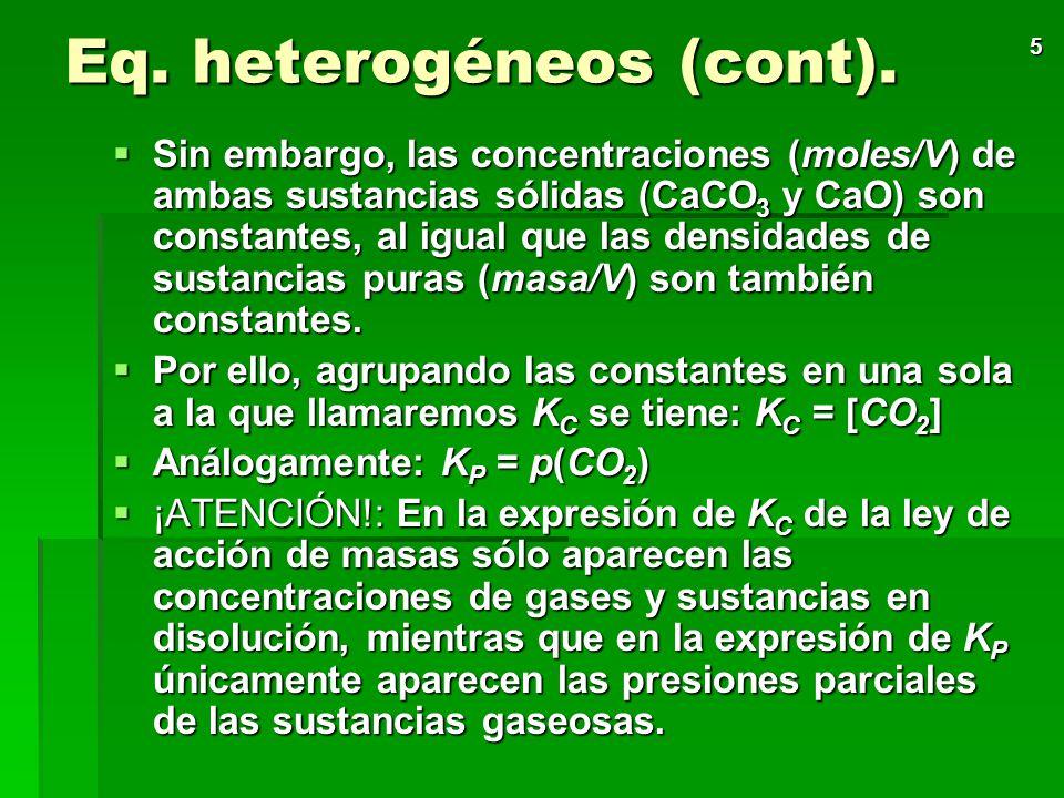 Eq. heterogéneos (cont).