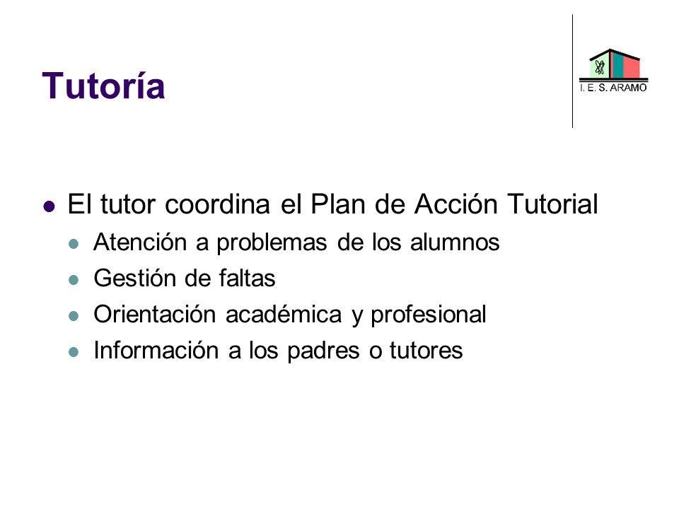 Tutoría El tutor coordina el Plan de Acción Tutorial